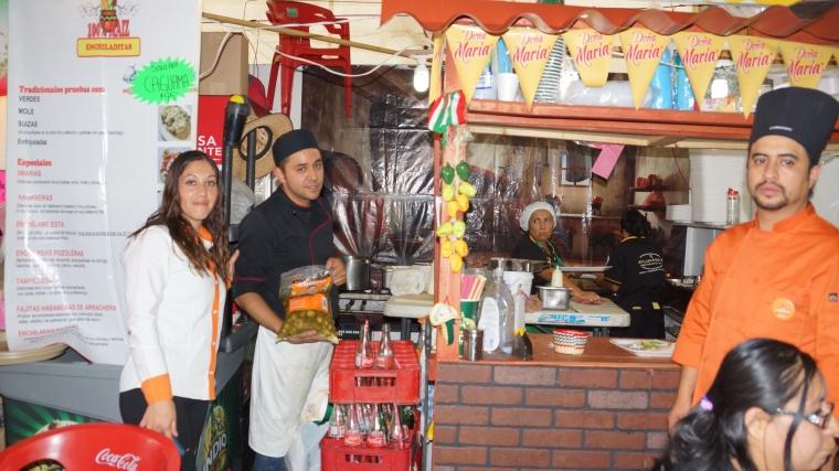 La morena en Feria de la Enchilada